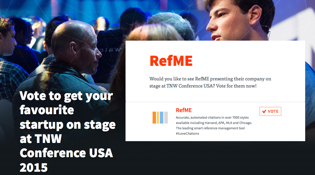 The Next Web Vote RefME